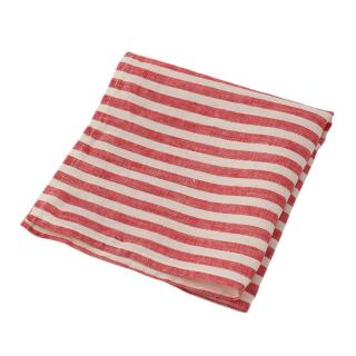 STRIPE LINEN NAPKIN RED