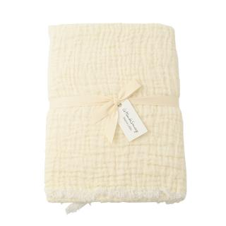 CRUMPLED LINEN BEDSPREAD 160X220 WHITE