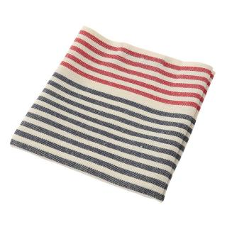 MULTI STRIPE TEATOWEL RED
