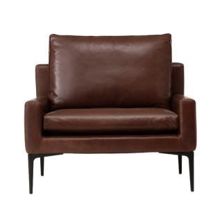 ELSA ARMCHAIR LEATHER BROWN