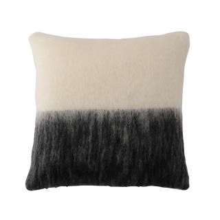 【CLEARANCE】 DIPPED END MOHAIR CC IVORY/BLACK 50X50