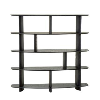 WING SHELVING 5 LAYERS ASH BLACK STAINED