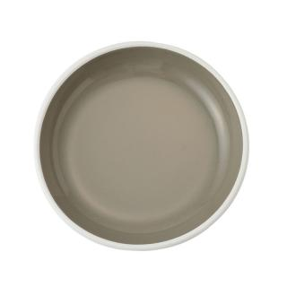 ENAMEL GREY 18CM PLATE BLOOM