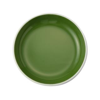 ENAMEL GREEN 18CM PLATE BLOOM