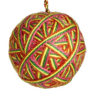 XMAS 17 KNITTED MULTI WRAP BALL 01003 7CM