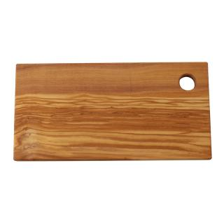 RECT OLIVE WOOD CHOPPING BOARD SMALL 30X15CM