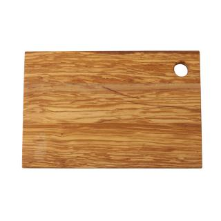 RECT OLIVE WOOD CHOPPING BOARD MEDIUM 30X20CM