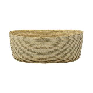 OVAL BASKET NATURAL 25X15X9CM
