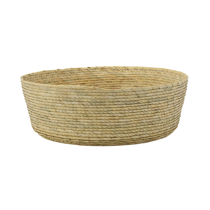 ROUND BASKET NATURAL 20X7CM