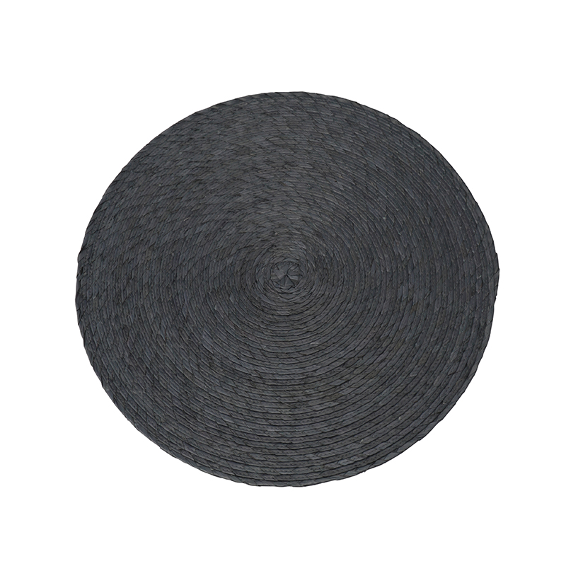 SINGLE ROUND PLACEMAT 38CM GREY