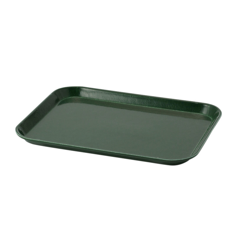 SHERWOOD GREEN MEDIUM RECT TRAY 27X35CM