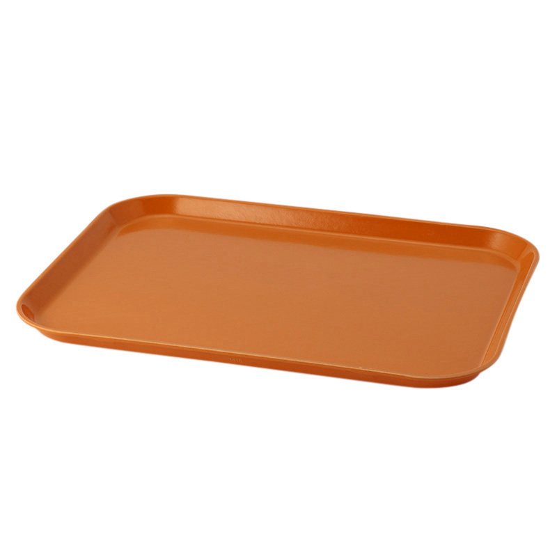 ORANGE PIZAZZ RECT TRAY 35.5X45.7CM