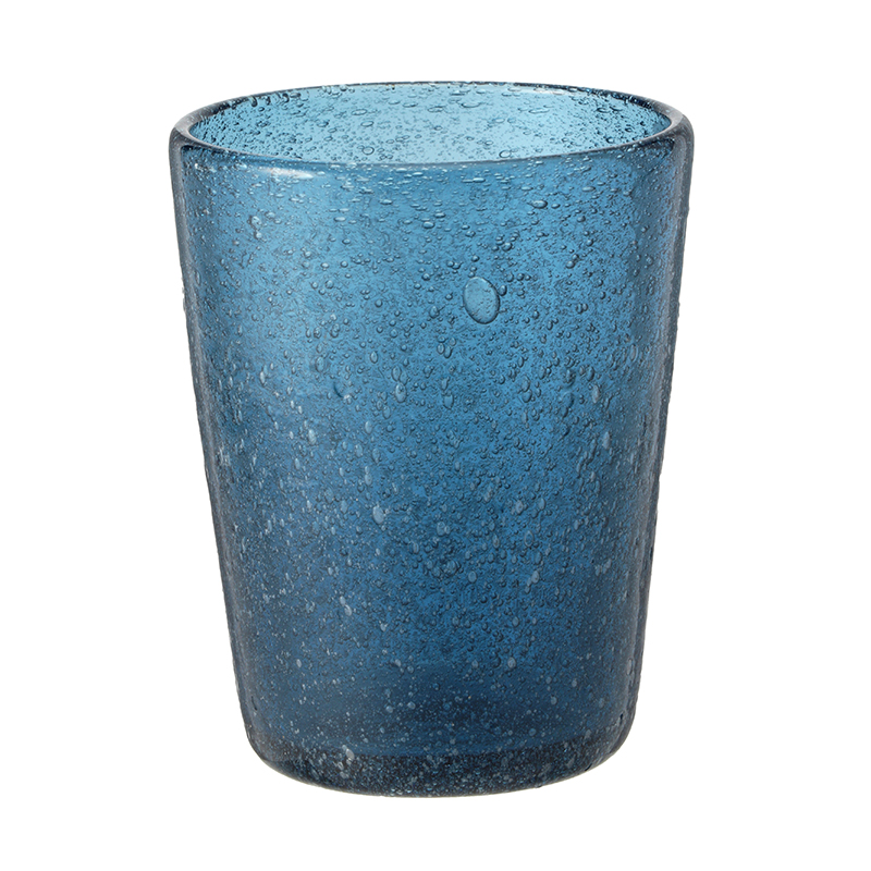 BUBBLE GLASS DEEP BLUE
