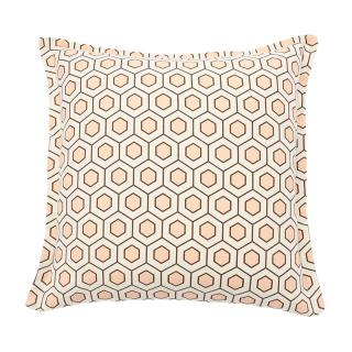 【CLEARANCE】 HEXAGON CUSHION COVER PINK BROWN