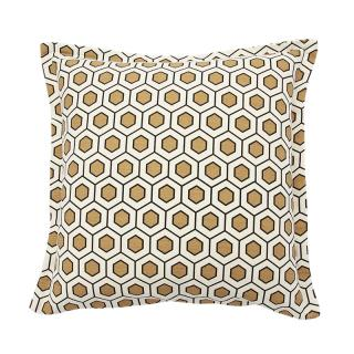 HEXAGON CUSHION COVER KHAKI