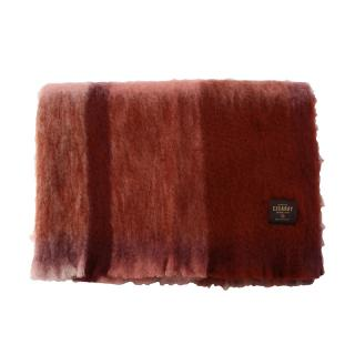 CHECK MOHAIR THROW ROSEWOOD