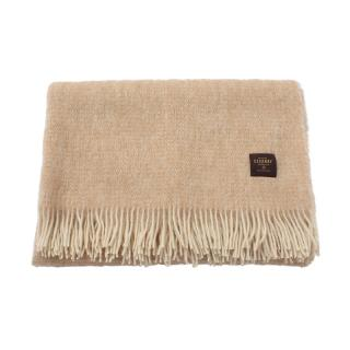 TWO TONE MOHAIR THROW BROWN