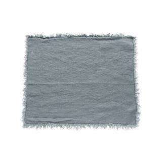 FRINGED LINEN PLACEMAT 40 X 50CM DUCKEGG