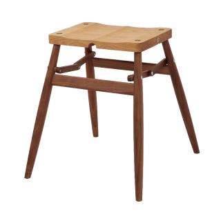IMO STOOL OAK SEAT WALNUT LEG