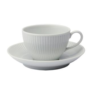 PLISSE BREAKFAST CUP & SAUCER