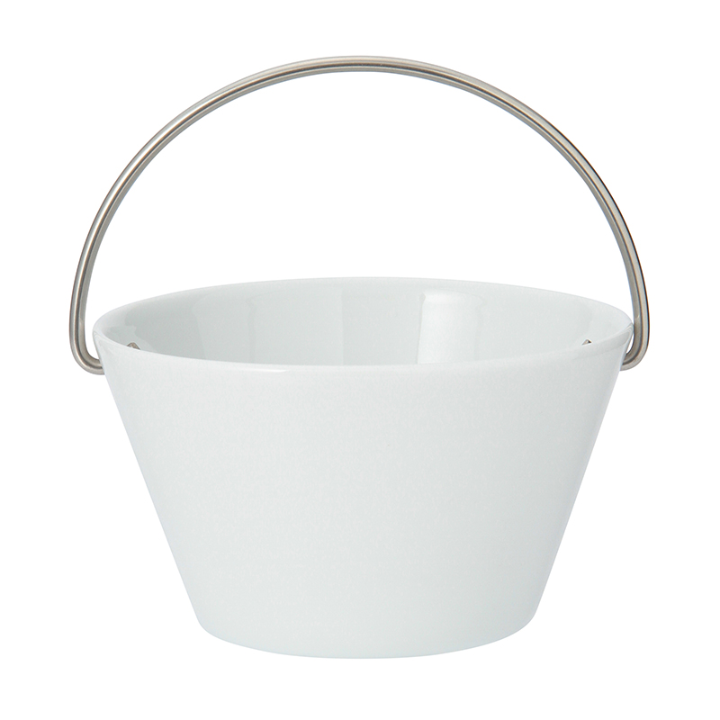 BOWL WITH HANDLE WHITE 0.5L