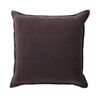 LINEN CUSHION COVER 65X65 CHOCOLATE