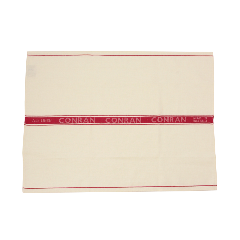 THE CONRAN SHOP RED TEA TOWEL