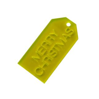PERSPEX TAG YELLOW