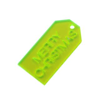 PERSPEX TAG YELLOW GREEN
