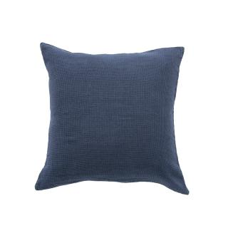 LINEN WAFFLE CUSHION COVER 45X45CM NAVY