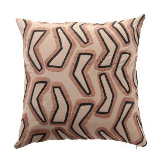 ABSTRACT BOOMERANG CUSHION COVER ROSEWOOD