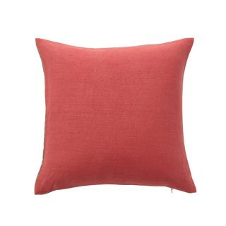 LARA CUSHION COVER HERRINGBONE CORAL