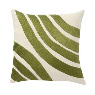 CURVED MOTIF CUSHION COVER GREEN