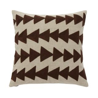 ARROW CUSHION COVER CHOCOLATE