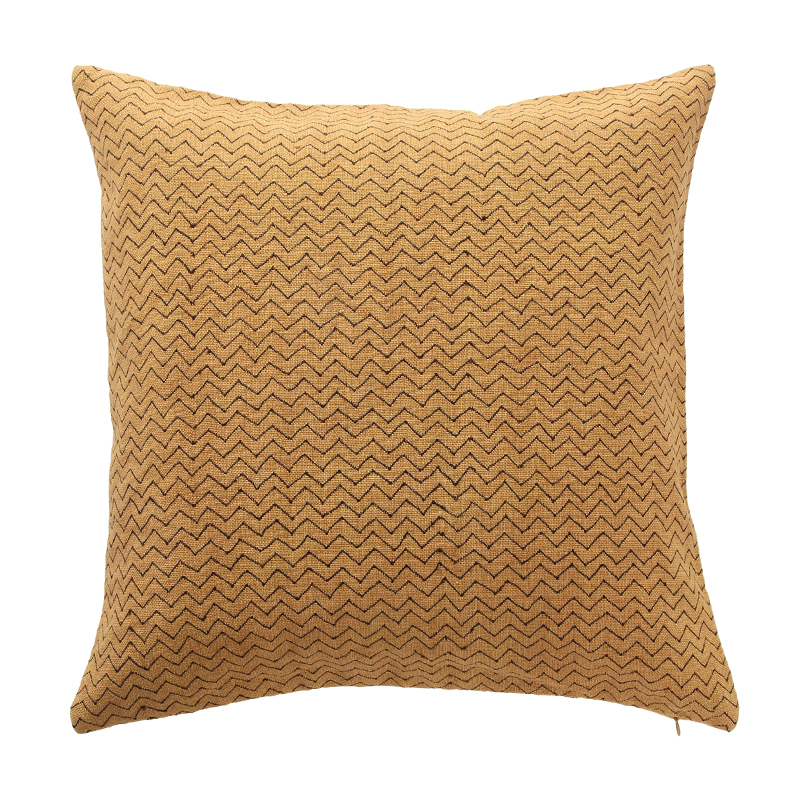 ZIG ZAG CUSHION COVER OCHRE/ANTHRACITE