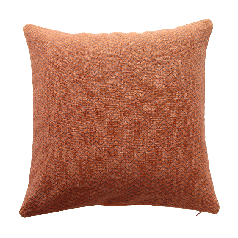ZIG ZAG CUSHION COVER RUST/ANTHRACITE