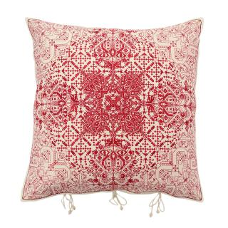 NAVIKA CUSHION COVER RED