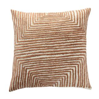 OPTIC DIAMOND CUSHION COVER IVORY/BROWN