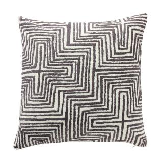 OPTIC CROSS CUSHION COVER IVORY/SLATE