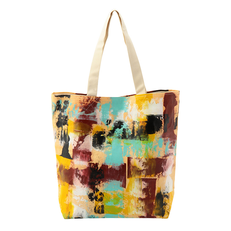 PAINTED TOTE MULTI COLOUR