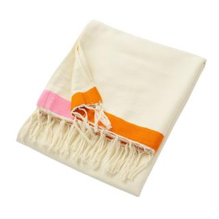 CONTRAST EDGE CTN BLANKET 150X250 CREAM