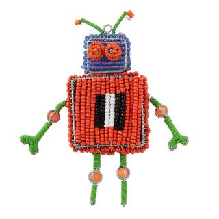 BEADED ROBOTS 1 BODY-RED