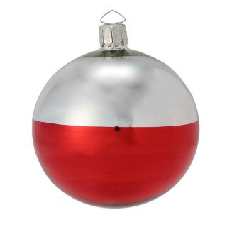 HALF RED BAUBLE 8CM