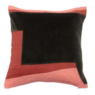 ABSTRACT GEO CUSHION COVER 45X45  CORAL