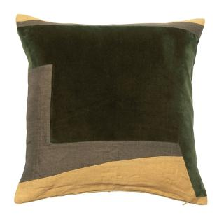 ABSTRACT GEO CUSHION COVER 45X45  GREEN