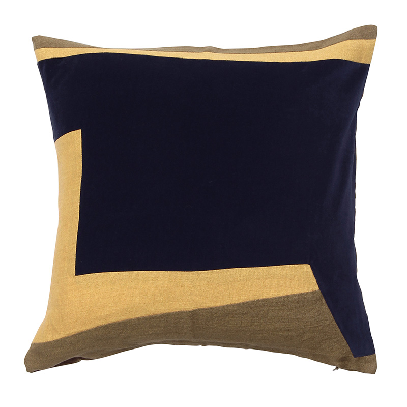 ABSTRACT GEO CUSHION COVER 45X45  INK