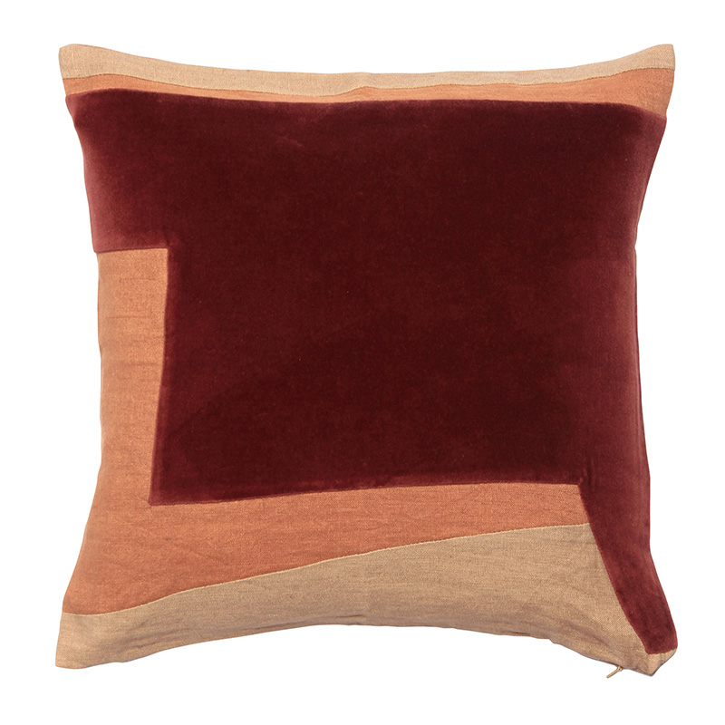 ABSTRACT GEO CUSHION COVER 45X45  RUSSET