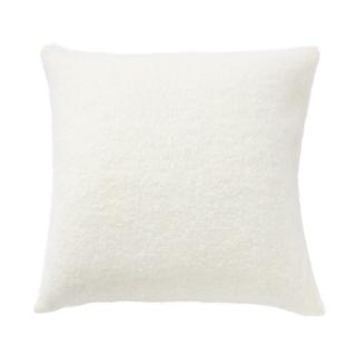 SILK MOHAIR CUSHION COVER WINTER WHITE