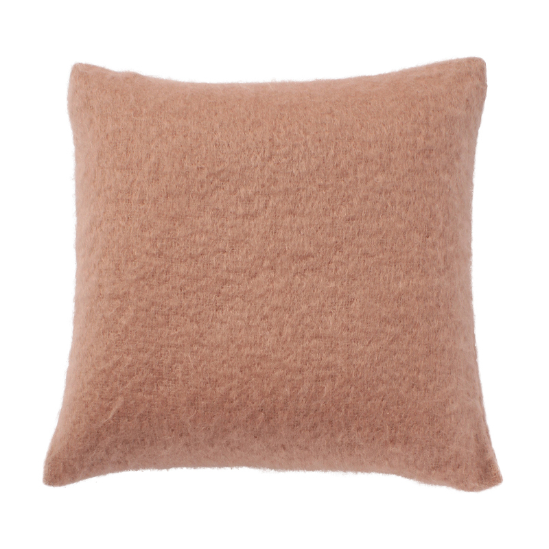 SILK MOHAIR CUSHION COVER COPPERED NUDE