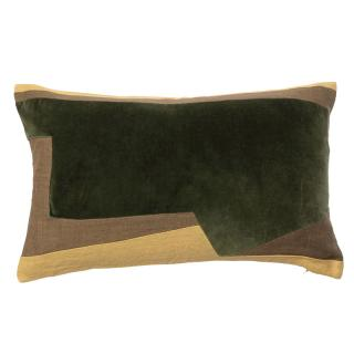 ABSTRACT GEO CUSHION COVER 30X50  GREEN